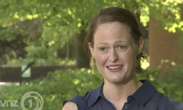 In an image made from video taken on April 22, 2020, New Zealand nurse Jenny McGee speaks about her efforts to help save coronavirus patient British Prime Minister Boris Johnson during an interview in London. McGee was one of two National Health Service nurses who were singled out for praise by the British Prime Minister after he was discharged from St. Thomas' Hospital in London earlier this month. Johnson, 55, was the first world leader confirmed to have the virus. (TVNZ via AP)