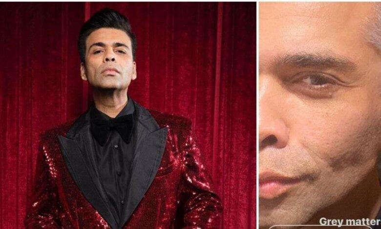 Karan Johar shared a picture showing off his white hair.