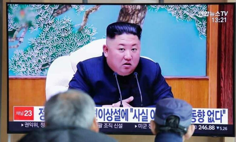 South Korean people watch a TV broadcasting a news report on North Korean leader Kim Jong Un in Seoul, South Korea.