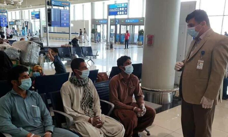 Pakistan  nationals being repatriated from Dubai.