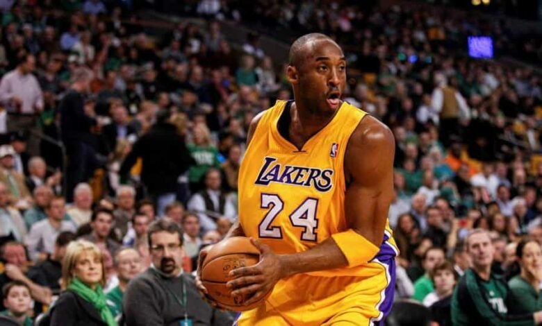 FILE PHOTO: Feb 09, 2012; Boston, MA, USA; Los Angeles Lakers shooting guard Kobe Bryant (24) on the court against the Boston Celtics at the TD Garden. Mandatory Credit: David Butler II-USA TODAY Sports/File Photo