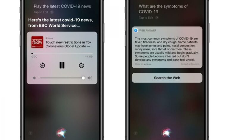 Siri gets COVID-19-smart: All your coronavirus news just a voice command away