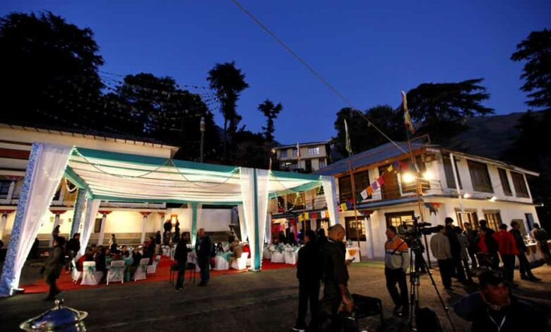 A view of the screening centre set-up during a previous edition of the Dharamshala International Film Festival, which supports independent cinema from India and the world over.