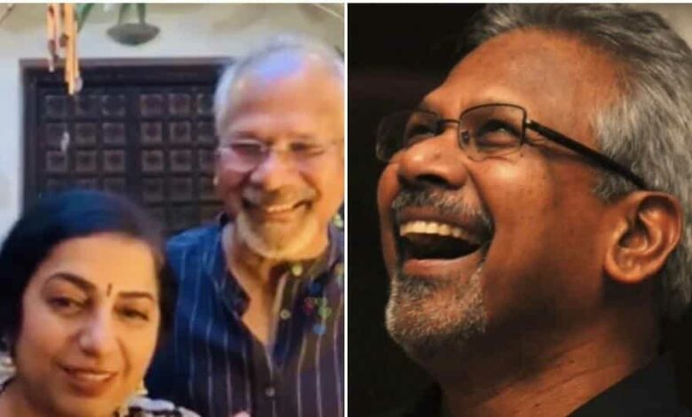 Mani Ratnam with wife Suhasini during his first-ever Instagram live session.
