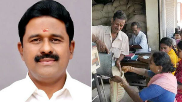 minister kamaraj says, there is no change in the distribution of ration rice