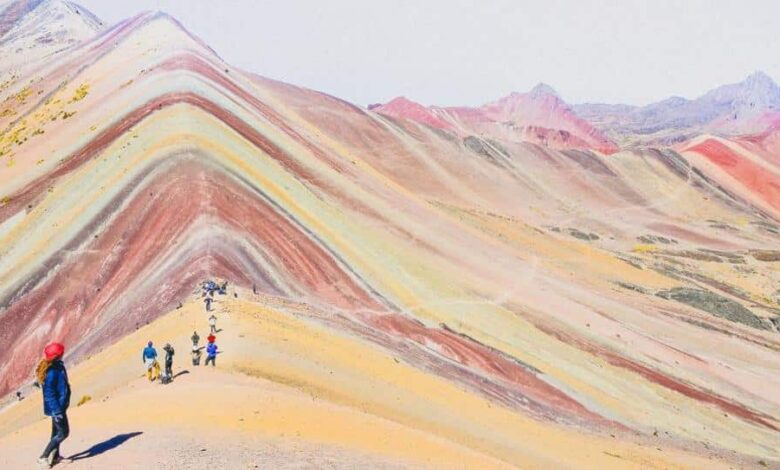 In January, a photo of rainbow-hued mountains showed up on Instagram, was shared on travel pages, and prompted users to report it as fake.