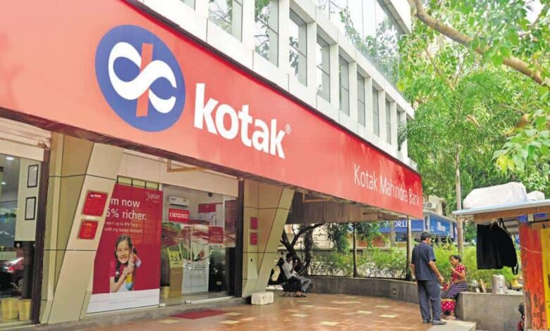 File photo of Kotak Mahindra Bank branch in Mumbai.