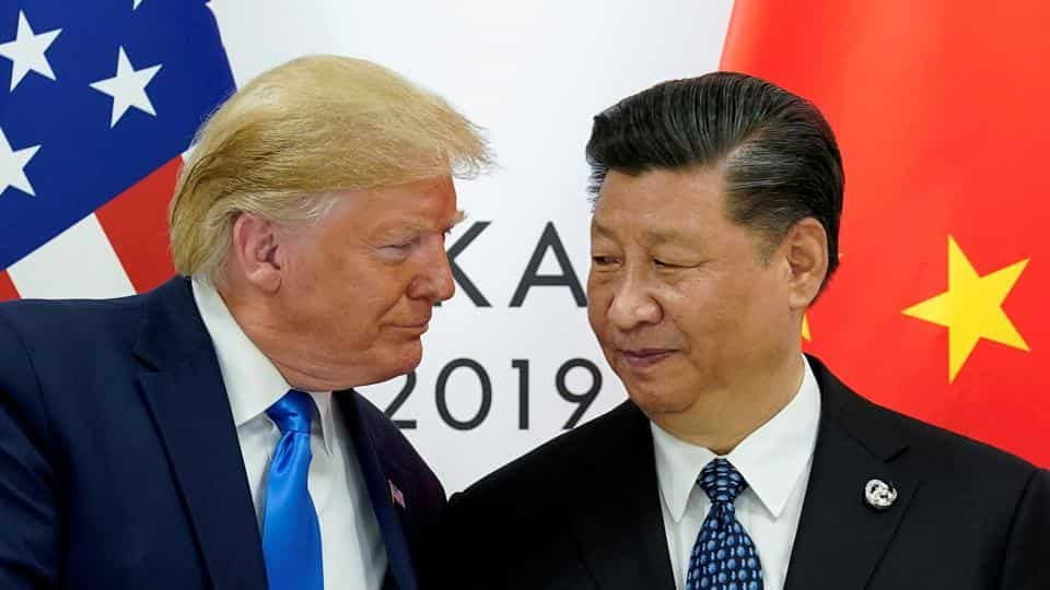 US President Donald Trump meets with China