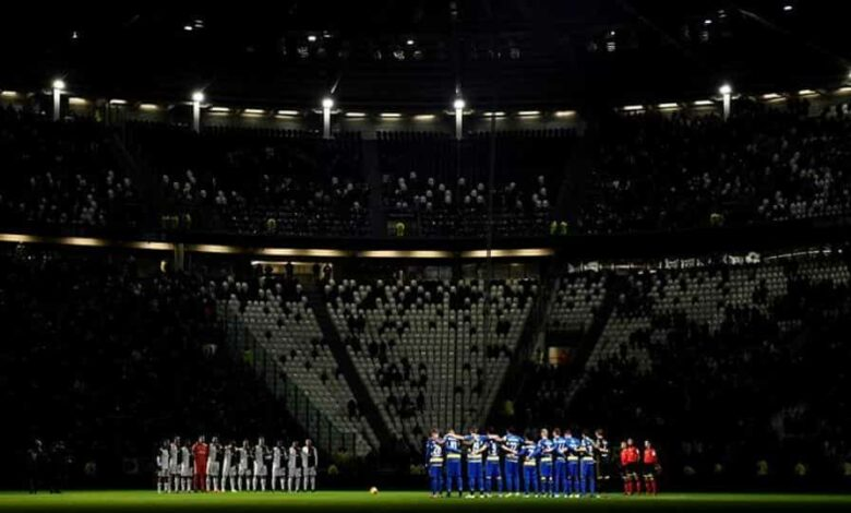 FILE PHOTO: Soccer Football - Serie A - Juventus v Parma - Allianz Stadium, Turin, Italy - January 19, 2020 General view as the teams observe a minutes silence before the match