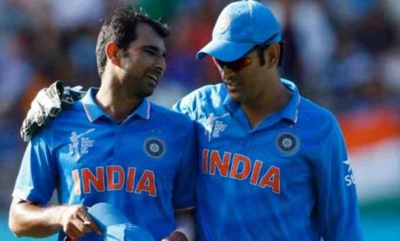 Mohammed Shami with MS Dhoni