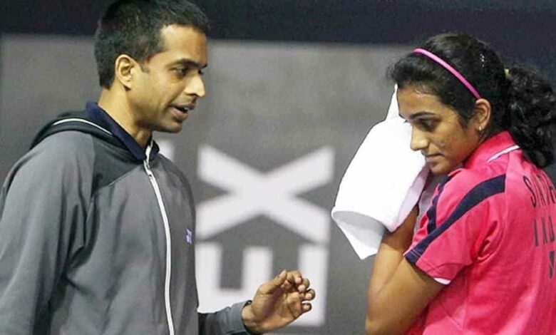File image of Gopichand with OVSindhu.