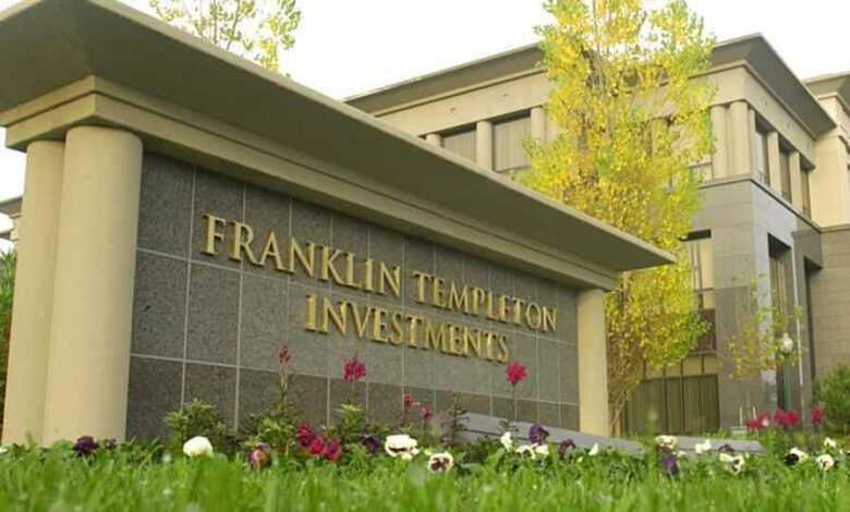 Headquarters of Franklin Resources Inc., parent company of money management unit Franklin Templeton in San Mateo, California.