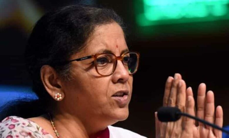 Union Minister of Finance and Corporate Affairs Nirmala Sitharaman during the third briefing detailing the Centre's economic stimulus package at National Media centre in New Delhi, India on Friday May, 15, 2020.