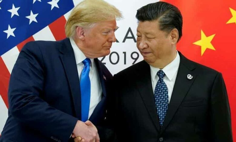 US President Donald Trump with China