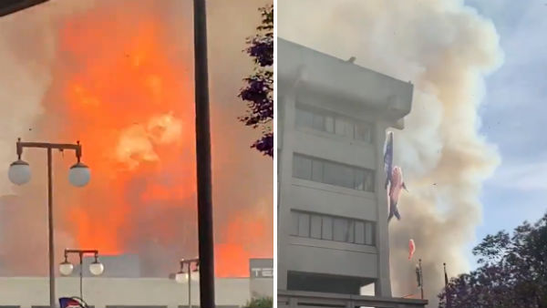 Los Angeles building fire: More than 10 firefighters injured
